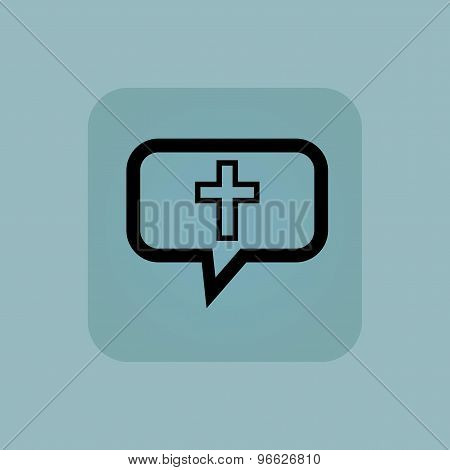 Pale blue christian cross message
