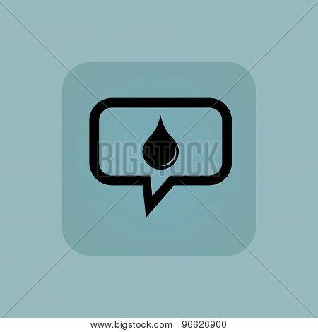 Pale blue water drop message