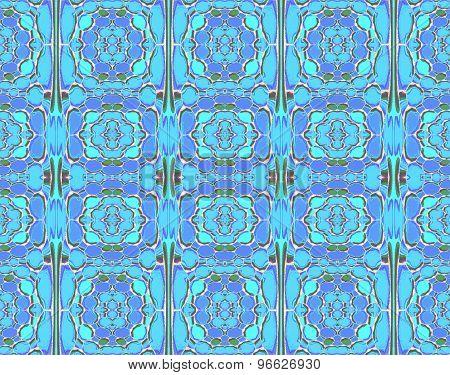 Seamless pattern blue turquoise