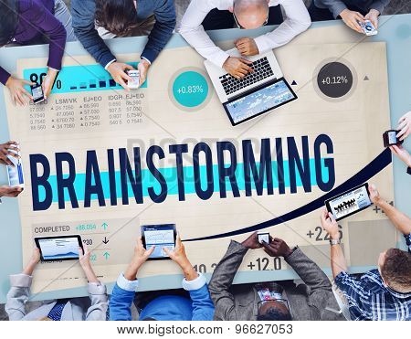 Brainstorming Meeting Discussion Strategy Thinking Concept
