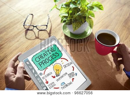 Business Creative Process Analysing Office Working Concept