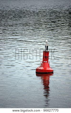 Gull on buoy