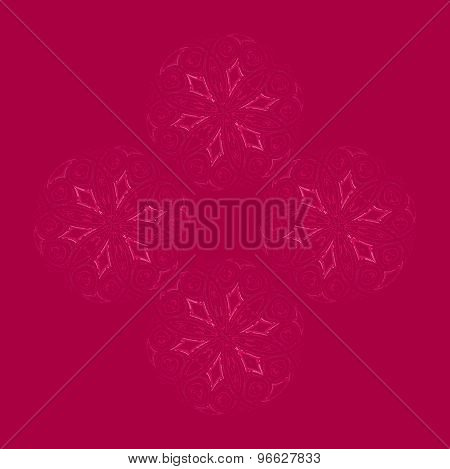 Seamless floral pattern dark red