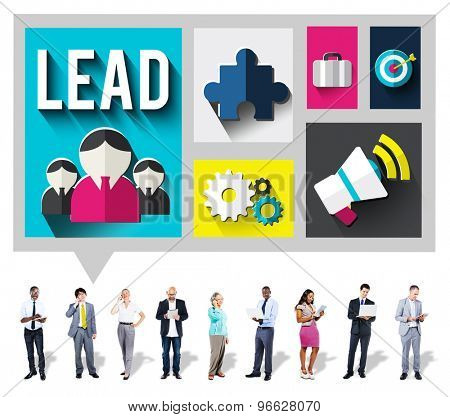 Lead Leadership Management Mentor Boss Concept