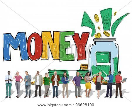 Money Currency Economy Banking Saving Concept