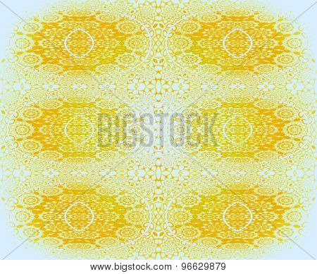 Seamless floral pattern yellow white
