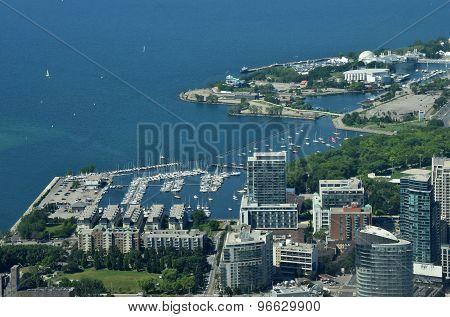 Toronto Marina Aerial View