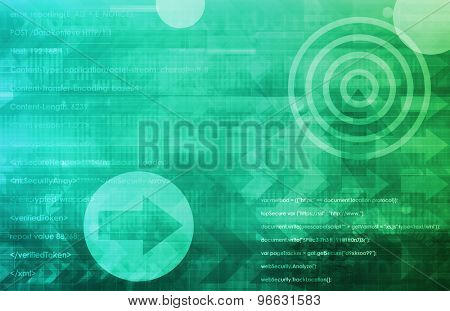 Smartphone Technology as a Presentation Background Art