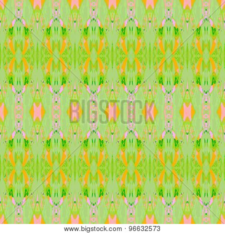 Seamless pattern green orange