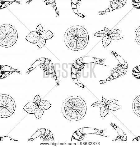 Shrimps pattern scetch