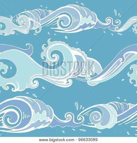Sea waves. Seamless background