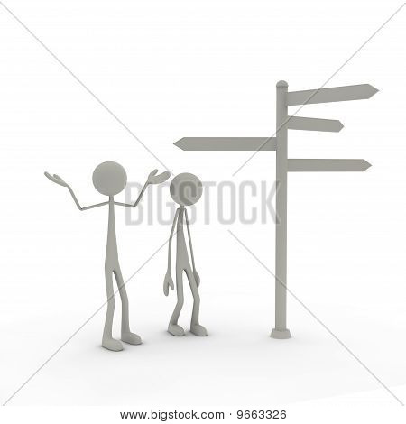Figures with direction sign