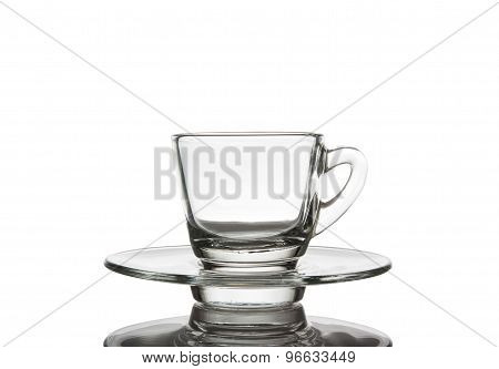 Cups And Saucers Small Glass.