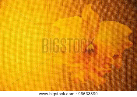 Flowers On The Surface Of Fabrics And Light Yellow.