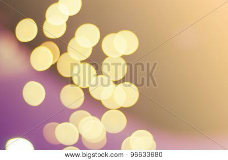 Abstract Lights Bokeh With Blur Filter