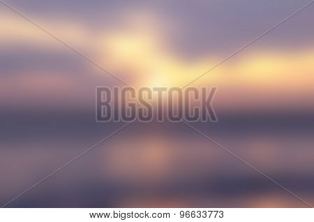 Blurred Sunrise Background.the Natural Lighting Phenomena.