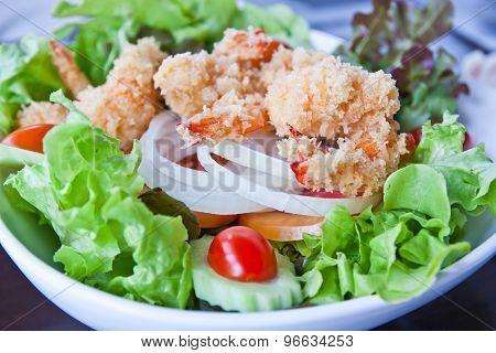 Breaded Fried Shrimp For Salad.