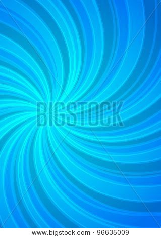 Magazine Cover Page Background Blue Spiral Energy Twist