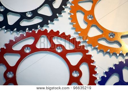 Colored Motorcycle Sprockets