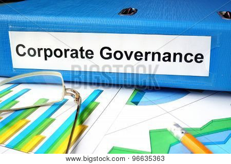 Folder with label Corporate Governance and charts.