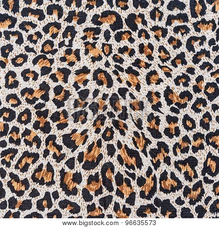 Texture Of Close Up Print Fabric Stripes Leopard