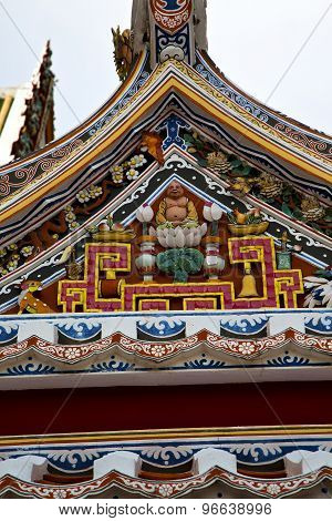 Asia  Thailand  In    Abstract Cross Colors  Roof    And  Colors Religion
