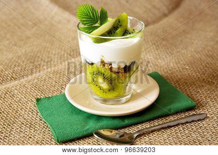 Fresh Yogurt With Kiwi .
