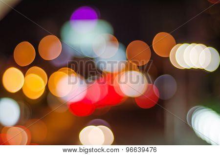 Night Traffic And Car Lights