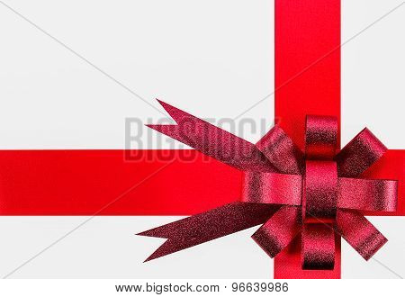 Ribbon And Red Bow