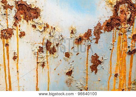 The Rough Surface Of Rusty Metal
