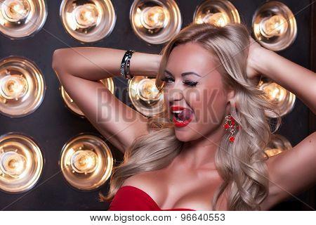 Beautiful Portrait Of Sexy Blonde Woman