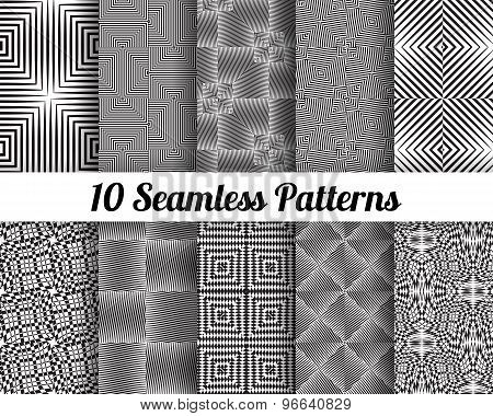 Set of 10 Abstract patterns