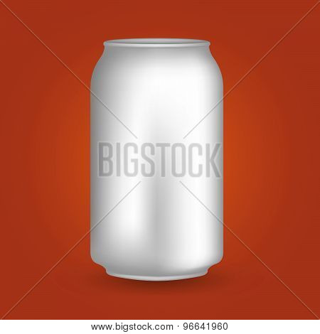 White Blank Drink Can..