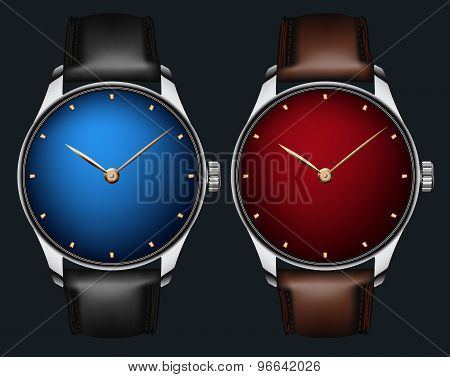 Vector Realistic Wrist Watch
