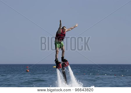 Unidentified Turkish Man Studying Extreme Flyboard