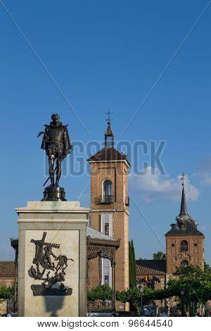 Cervantes Square In Alcala