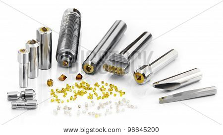 Synthetic And Natural Diamonds Tools Fixed In Different Metal Housing