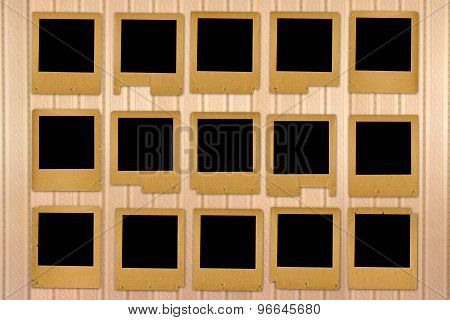 Old Grunge Paper Slides On Striped Background
