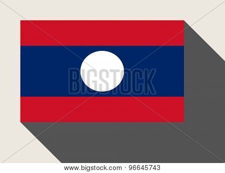 Laos flag in flat web design style.