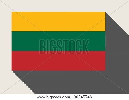 Lithuania flag in flat web design style.