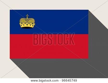 Liechtenstein flag in flat web design style.