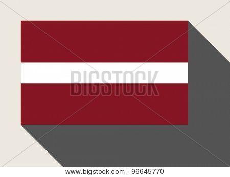 Latvia flag in flat web design style.