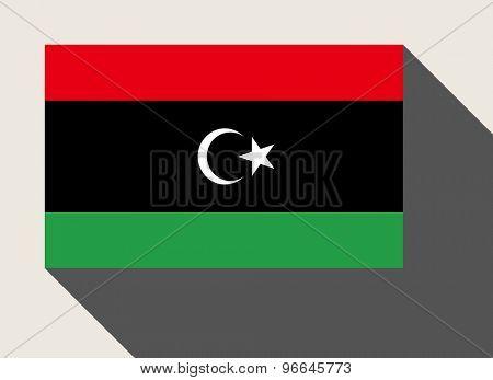 Libya flag in flat web design style.