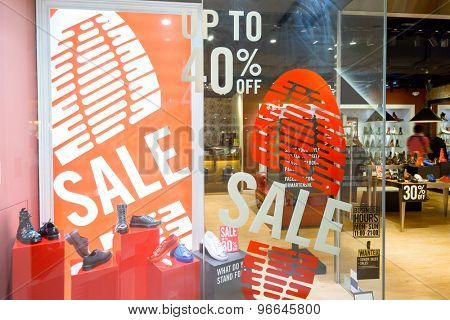 modern shopfront display window