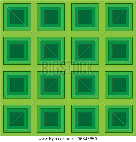 Squares seamless pattern green colors
