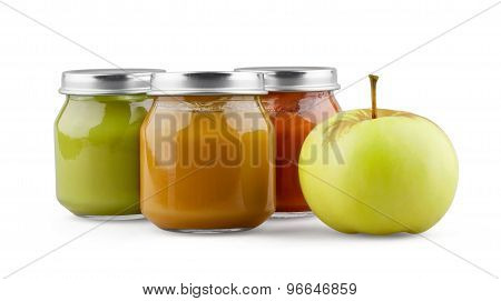 Baby puree with fruits