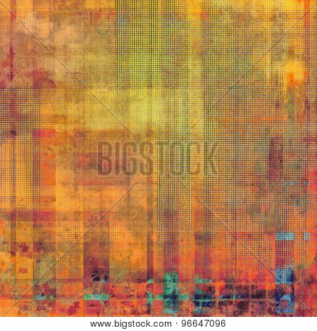 Old-style background, aging texture. With different color patterns: yellow (beige); pink; blue; red (orange)