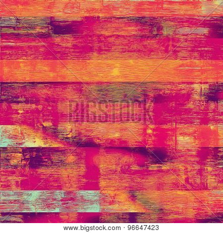 Old texture with delicate abstract pattern as grunge background. With different color patterns: pink; purple (violet); red (orange); cyan