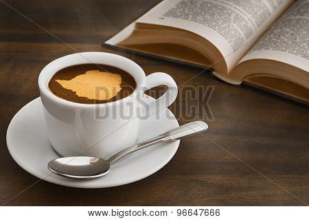 Still Life - Coffee With Map Of Zimbabwe