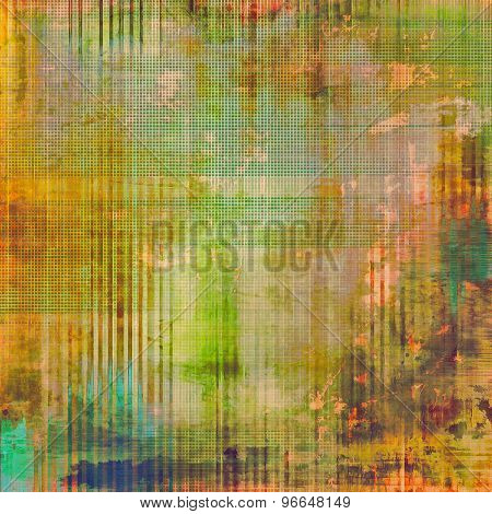 Antique vintage texture, old-fashioned weathered background. With different color patterns: yellow (beige); brown; green; blue